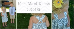 Milk Maid Dress tutorial from OurThriftyIdeas.com