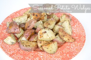 Recipe for Seasoned Potato Wedges. These would be great as a side dish or dipped in ranch for a snack