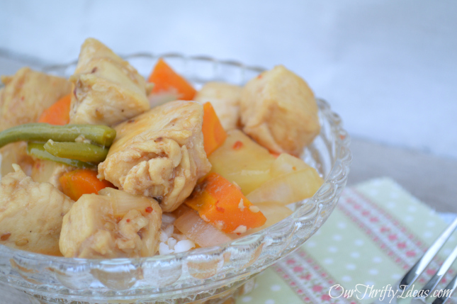 Sweet and Sour Chicken with Kraft Recipe Makers from OurThriftyIdeas.com #shop