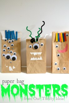 Paper Bag Monsters made by your kids