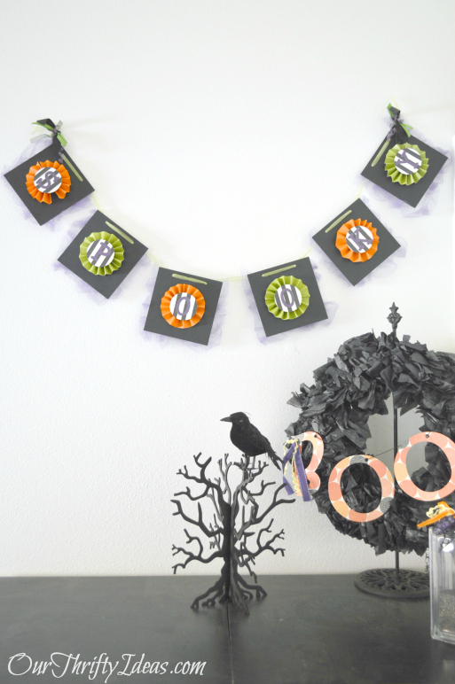 Spooky Halloween Banner from OurThriftyIdeas.com