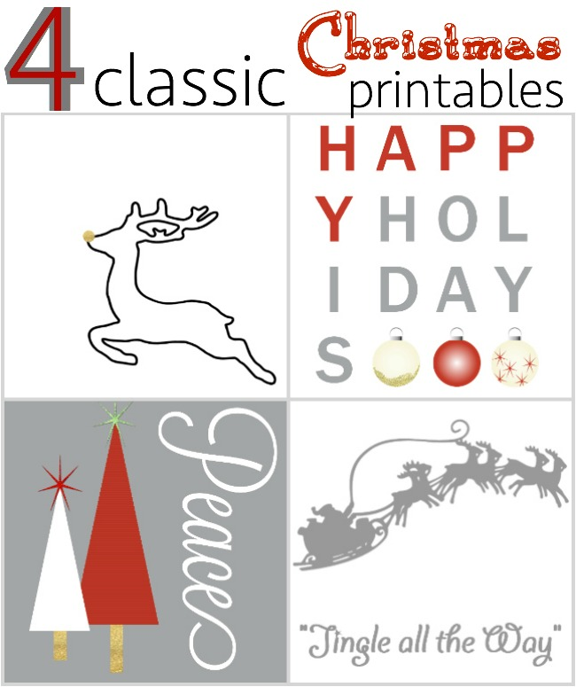 these are such fun Christmas printables.