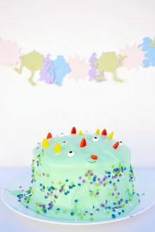 Monsters University Party, make a monster cake