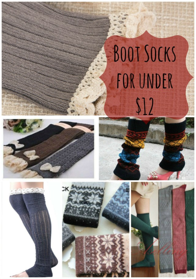 Womens Leg warmers and boot socks for under $12