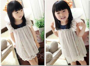 toddler girls floral pattern tulle cover tutu dress