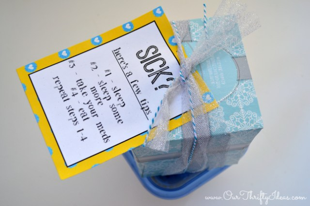 sick printable - a gift for a sick neighbor