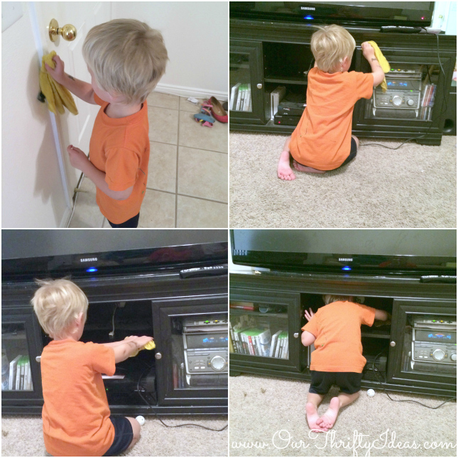 Teaching your kids the benefit of work | www.ourthriftyideas.com #cottonelleholiday #ad #pmedia