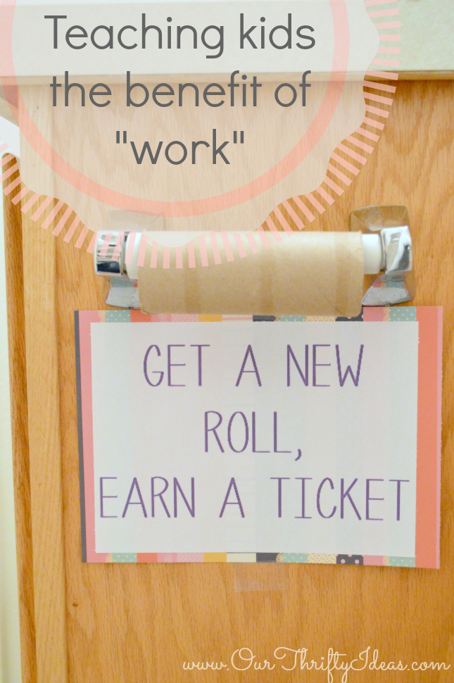 Teaching your kids the benefit of work with cottonelle