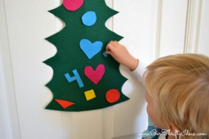 felt christmas tree for the kids to play with