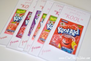 """I think you're pretty """"KOOL"""" free Valentine Printable from www.OurThriftyIdeas.com 