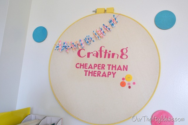 crafting - cheaper than therapy hoop decor