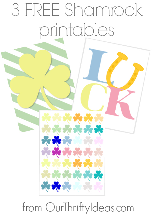3 Free Shamrock Printables via Our Thrifty Ideas - Just pop one in a frame for the cutest St. Patrick's Day decor!