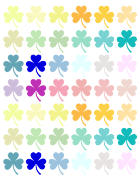 Rainbow Shamrocks Printable