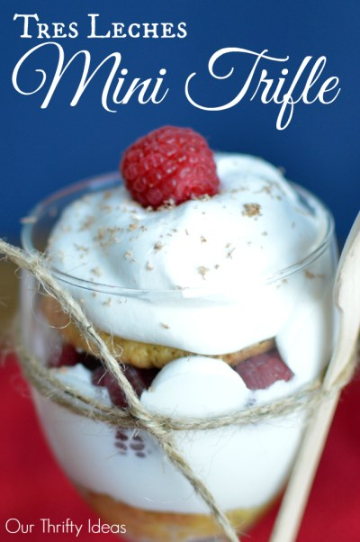 Tres Leches Mini Trifle using the Nestle Tres Leches Kit - simple to make and DIVINE to taste | www.OurThriftyIdeas.com #Valentines4All #shop #cbias #dessert #trifle #cake