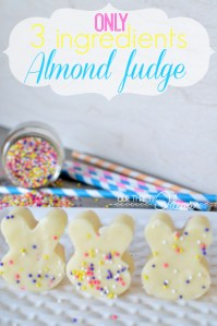 Quick Cooks – Almond Fudge – only 3 ingredients