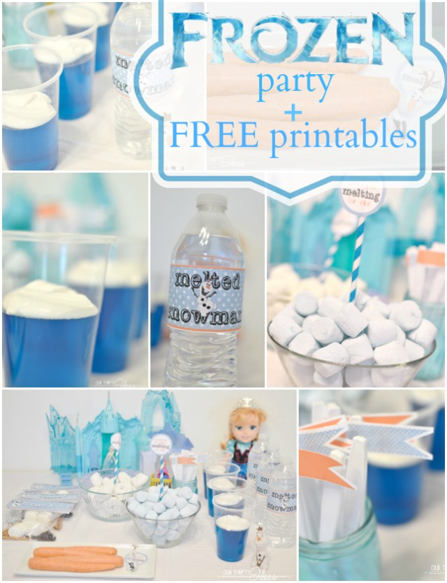 FROZEN movie party plus FREE printables