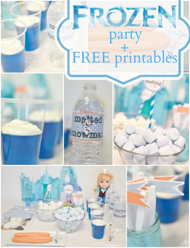 FROZEN movie party plus FREE printables