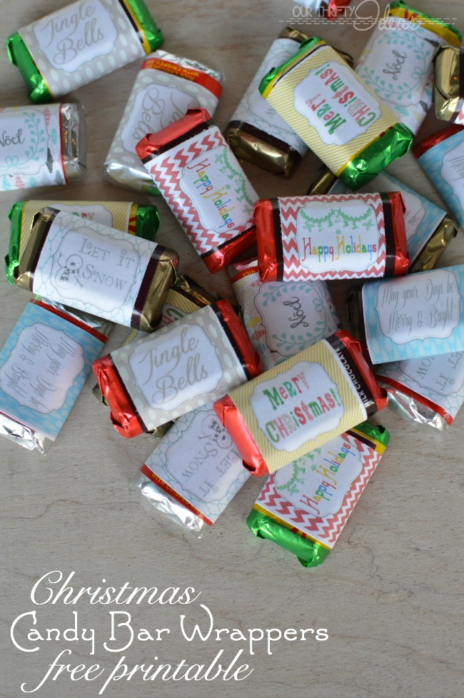 Mini Candy Bar Christmas Wrappers Tag Our Thrifty Ideas