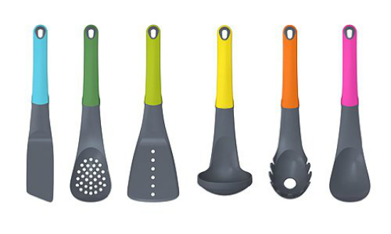 6 piece colored kitchen tools