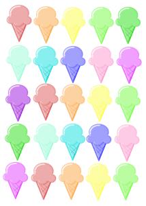Ice Cream – Rainbow Printable