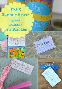 FREE Summer Break gift ideas and printables