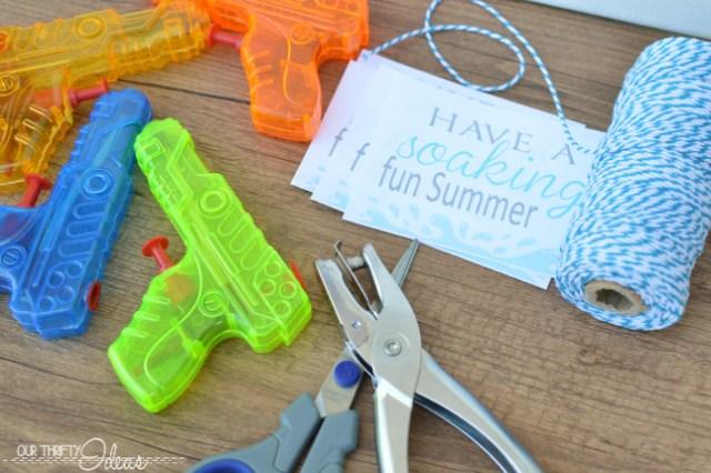 water gun summer printable