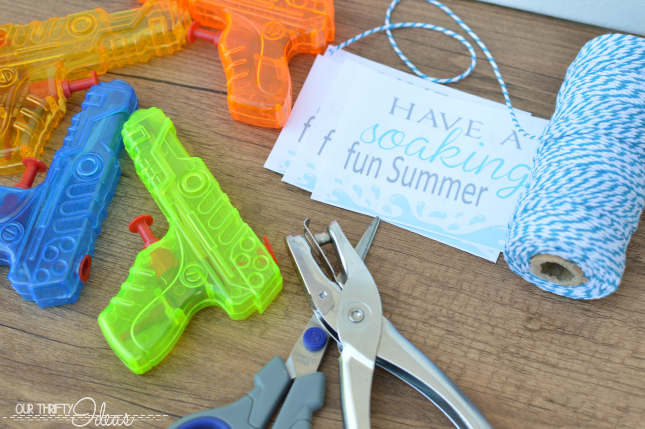 water gun summer printable