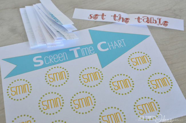 graphic regarding Printable Screen Time Charts called CHILDRENS Display Season CHART - Our Thrifty Programs