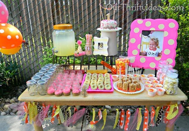 giraffe inspired birthday party