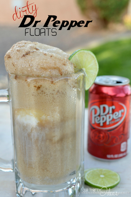 Dirty Dr Pepper float - coconut icecream, fresh lime and an ice cold Dr Pepper. The perfect summer night treat