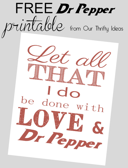 free Dr Pepper printable