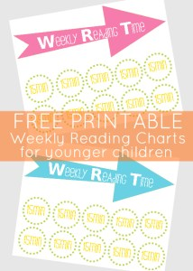 Back to School – weekly reading time chart printable
