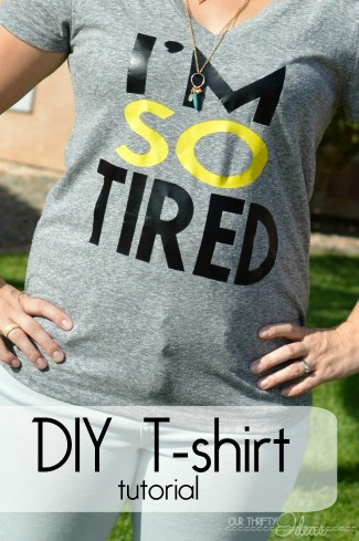 DIY t-shirt tutorial IM SO TIRED
