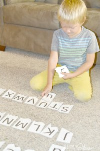 Letter recognition cards to help young kids. Free printable
