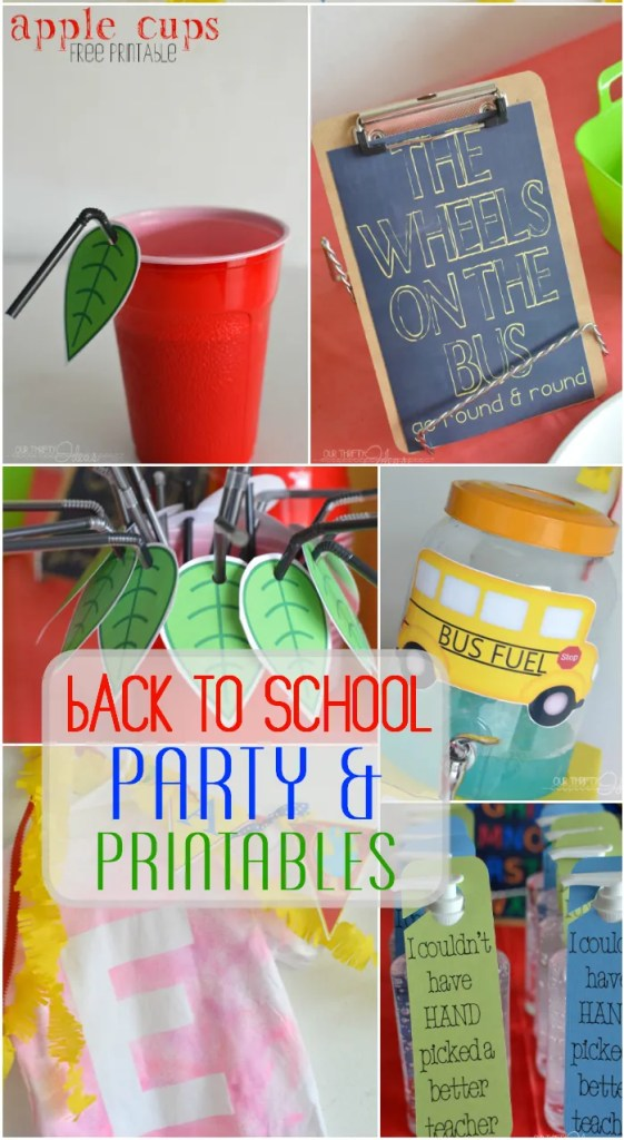 Back to School party ideas and free printables