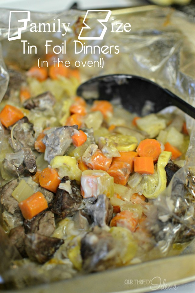 I made these tin foil freezer dinners tonight and it was devoured by everyone, including the kids! And I still have 2 more dinners worth in the freezer for later!