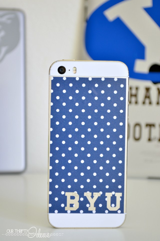 BYU cell phone vinyl