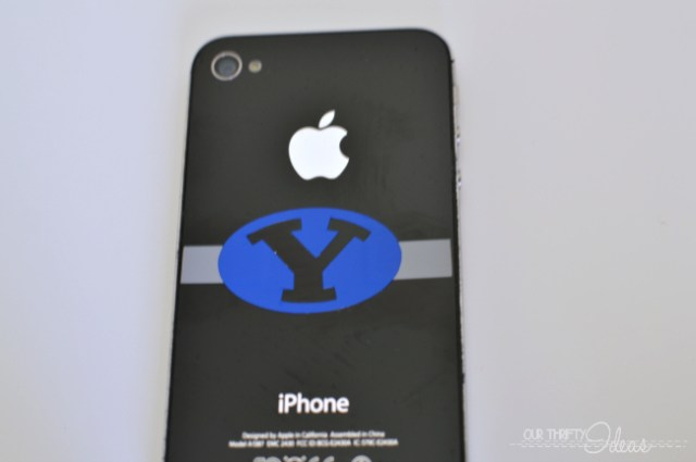 BYU logo iphone vinyl