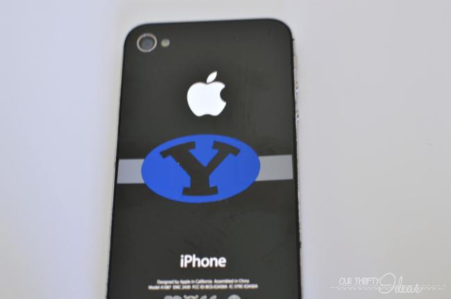 BYU logo iphone vinyl