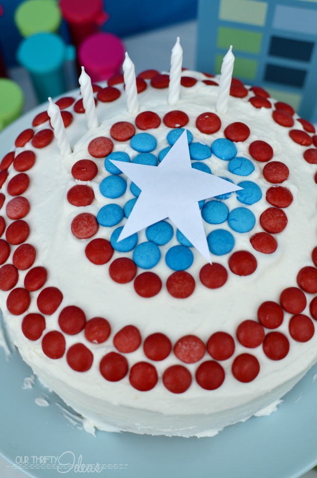captain america cake for a super hero party