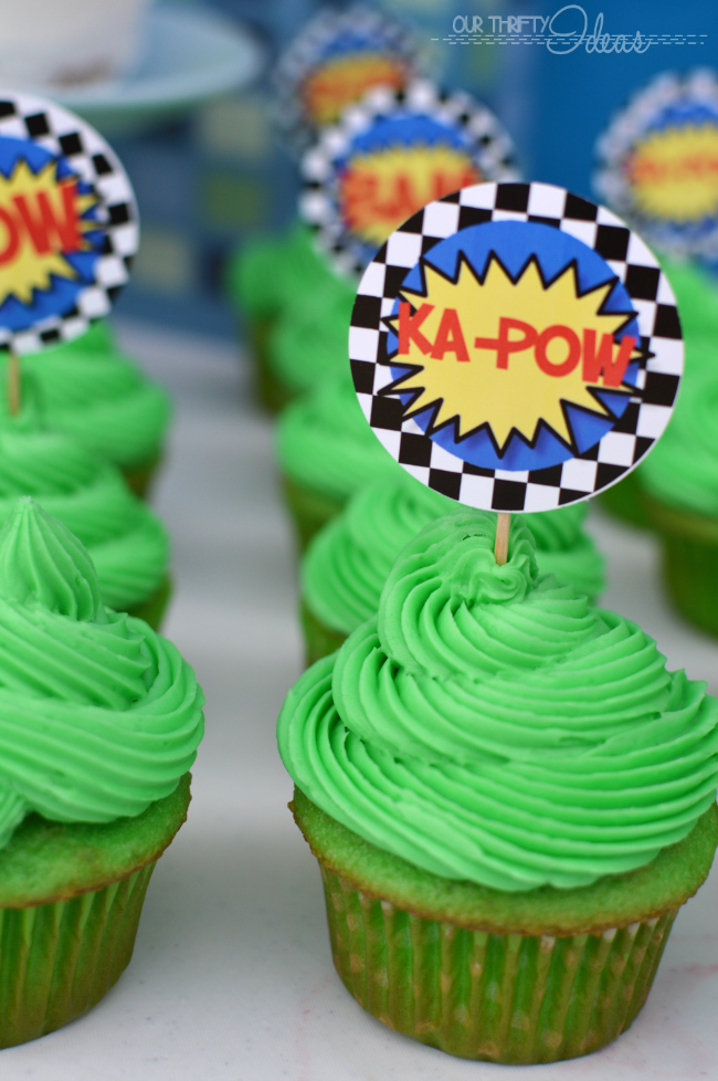 cupcake toppers for a super hero party