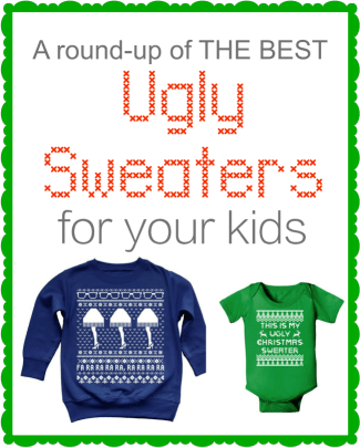 These are seriously the best Ugly Christmas Sweaters for little kids! Links on where you buy them all are in the post. Can't wait for this years party