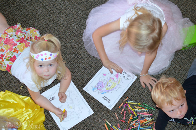 coloring princess pages