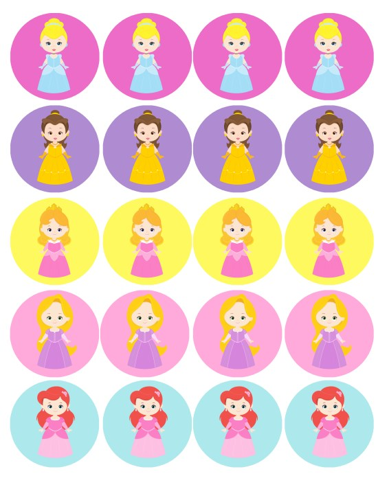 cupcake toppers for your princess party