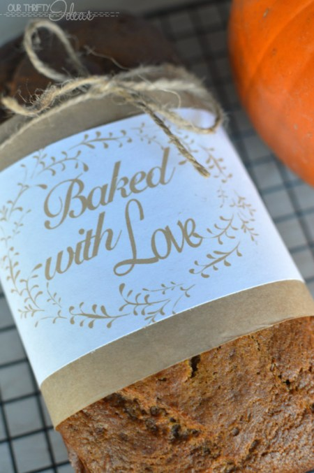 baked with love printable