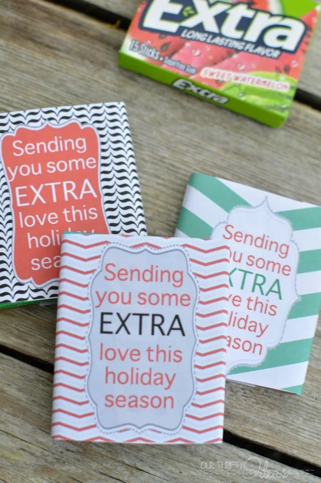 Send some extra love this holiday season with these fun gum wrappers. Put it with your Christmas card for those extra special VIP's in your life.