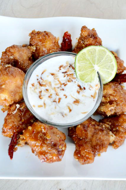 Homemade coconut lime dipping sauce. Perfect served with some spicy chicken wings.