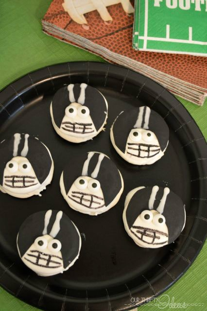 Football Player Cookies + Football Party Prep Ideas