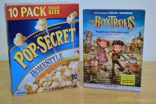 Pop Secret Home-style Popcorn and The Boxtrolls