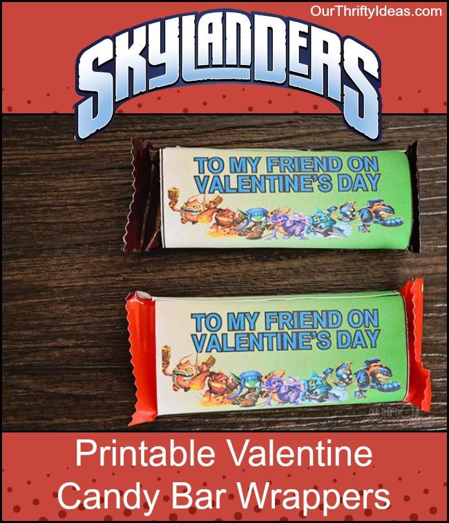 graphic about Skylanders Printable titled Cost-free Skylanders Valentine Printable - Sweet Bar Wrapper